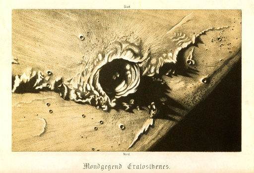 Moon's crater, historical artwork