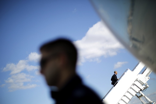 U.S. President Barack Obama boards the Air Force One for Florida at Joint Base Andrews in Maryland