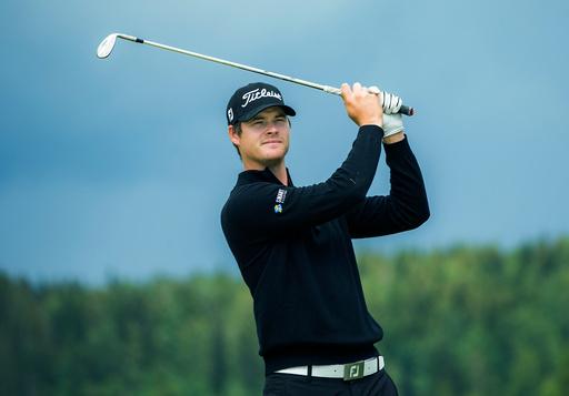 Golfspiller Espen Kofstad på Bogstad Golfbane