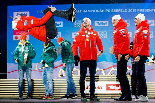 VM ski 2019. Medaljeseremonien