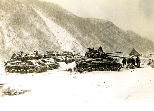 Koreakrieg,Schlacht um den Changjin-Stausee, US-Panzer 1950 - Korean War, Chosin Reservoir battle -