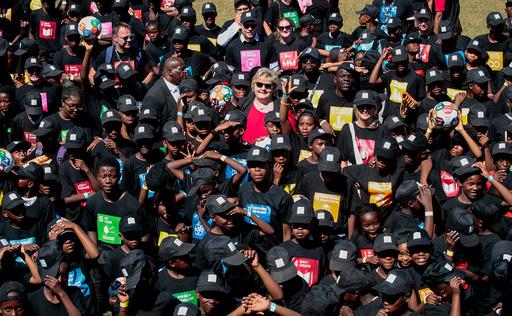 Erna Solberg i Sør-Afrika.