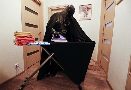 The Wider Image: Ukraine: Being Darth Vader