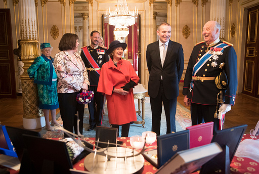 Islands president Guðni Th. Jóhannesson på slottet