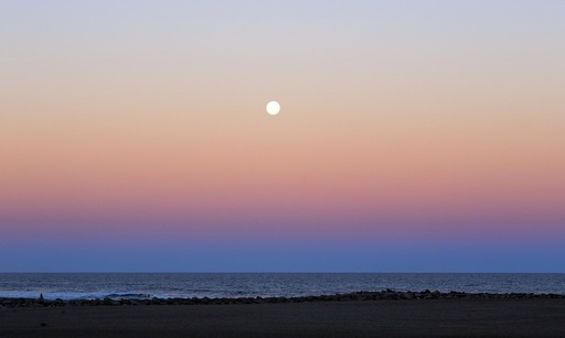 Moon and Belt of Venus effect