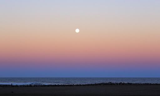 Moon and Belt of Venus effect