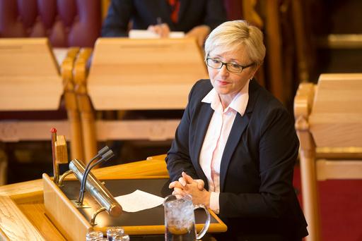 Senterpartiets Liv Signe Navarsete under tirsdagens trontaledebatt i Stortinget.