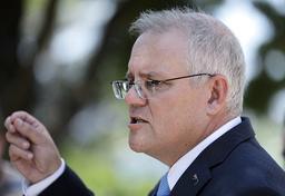Australia, her ved statsminister Scott Morrison, vil sette Sonnenkrieg Division på landets terrorliste. Det er første gang en høyreekstrem gruppe havner på listen. Arkivfoto: Rick Rycroft / AP / NTB