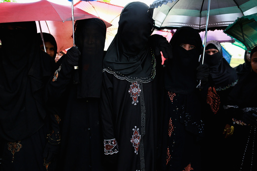 A Rohingya Muslim bride is seen during wedding ceremony in Kyukpannu village in Maungdaw