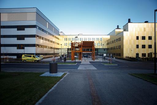 En ansett ved Sykehuset Østfold Kalnes har testet positivt for korona. Foto: Cornelius Poppe / NTB