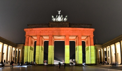 Brandenburg Gate illuminated in the aftermath of attack
