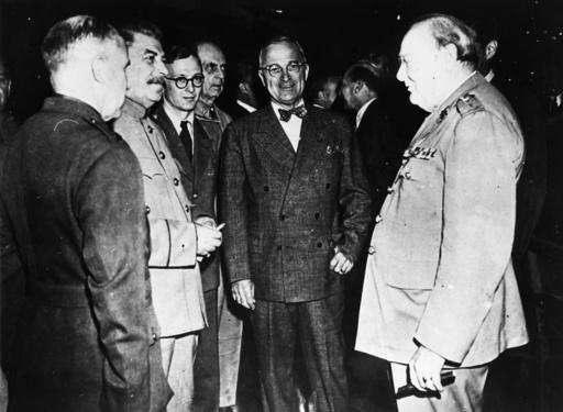 Potsd.Konf., Stalin,Truman,Churchill - Potsdam Conference. - Conférence de Potsdam / Staline, Truman et Churchill. -