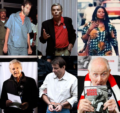 Robert Lee Vesco, Philip Agee, Assata Shakur, Julian Assange, Cesare Battisti, Ronnie Biggs