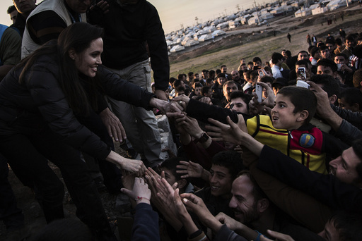 UNHCR Special Envoy Jolie meets members of the Yazidi minority in Khanke IDP Camp in Dohuk