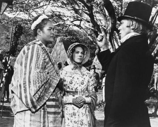 HAWAII, from left,  Jocelyn LaGarde, Julie Andrews, Max Von Sydow, 1966