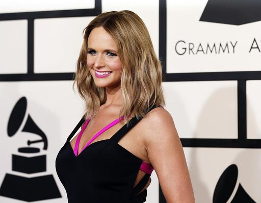 Miranda Lambert arrives at the 57th annual Grammy Awards in Los Angeles