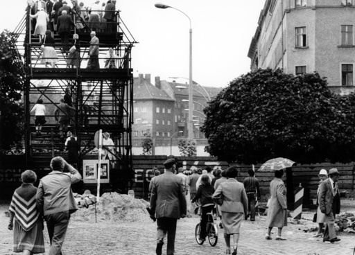 Tourists come for the 18th anniversary of the building of the Berlin Wall.