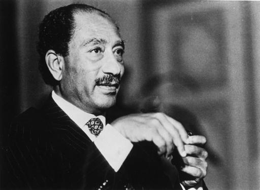 Anwar As Sadat, ägypt. Staatspräsisdent - Anwar el-Sadat / Egypt.President / Photo - Sadate, Mohammed Anouar el