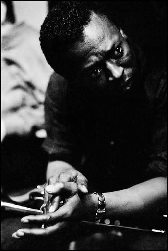USA. Miles DAVIS, US jazzman.