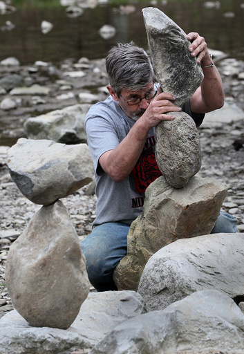 Ohio rock stacker has his own reasons for creative hobby