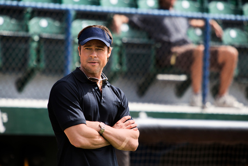 MONEYBALL, Brad Pitt, 2011. ph: Melinda Sue Gordon/©Columbia Pictures/Courtesy Everett Collection