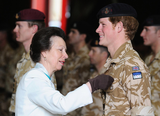 Britain's Prince Harry is awarded the Operational Service Medal for Afghanistan in Windsor