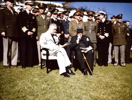 Konferenz v.Casablanca 1943 / Gruppenbild / Foto - Casablanca Conference / 1943 / Photo -