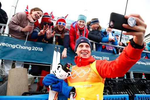 Vinter-OL. Olympiske leker i Pyeongchang 2018. Langrenn 4x10 km stafett herrer.