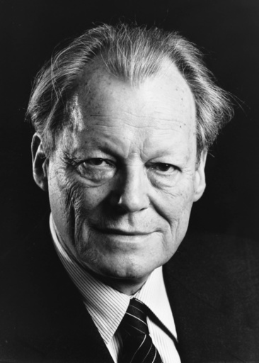 Willy Brandt / Foto 1978 - Willy Brandt, portrait / photo, 1978 - Willy Brandt / Photo 1978