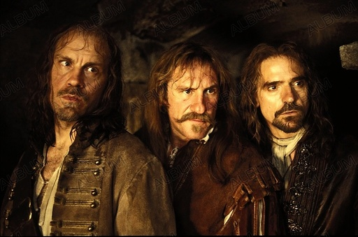 MAN IN THE IRON MASK, THE (1998), directed by RANDALL WALLACE. GERARD DEPARDIEU; JEREMY IRONS; JOHN MALKOVICH.