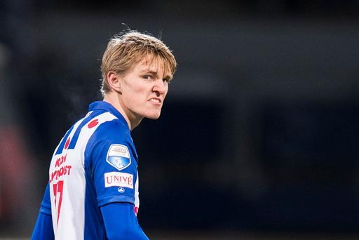Martin Ødegaard debuterer som Heerenveen-spiller.