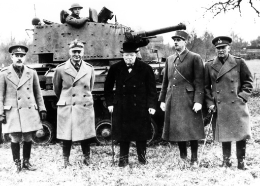 Churchill, de Gaulle u. Sikorski 1941. - Churchill, de Gaulle and Sikorski 1941 -