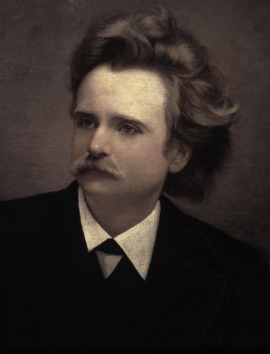 Edvard Grieg /Portrait/anonym.Gem.1865 - Edvard Grieg / Portrait /Paint./ c.1865 - Grieg, Edvard