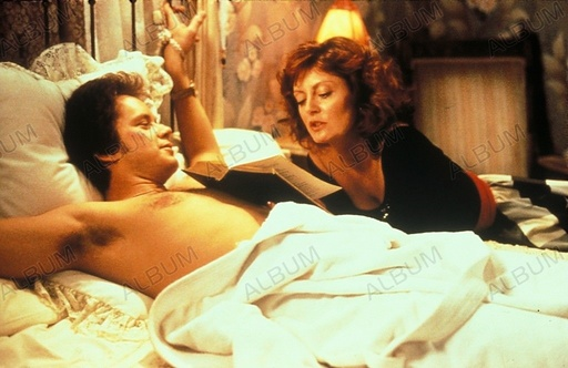 BULL DURHAM (1988), directed by RON SHELTON. SUSAN SARANDON; TIM ROBBINS.