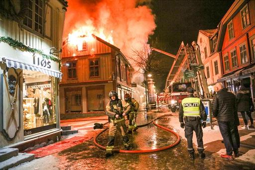 Brann i bygård på Lillehammer.