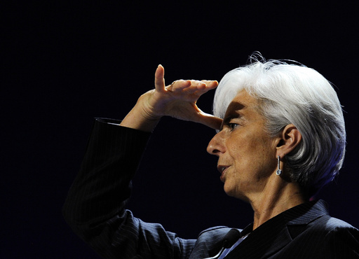 International Monetary Fund President Lagarde gestures during a news conference on the second day of the G20 Summit in Cannes