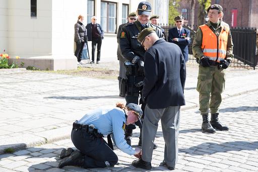 Medaljeseremoni på Akershus festning.