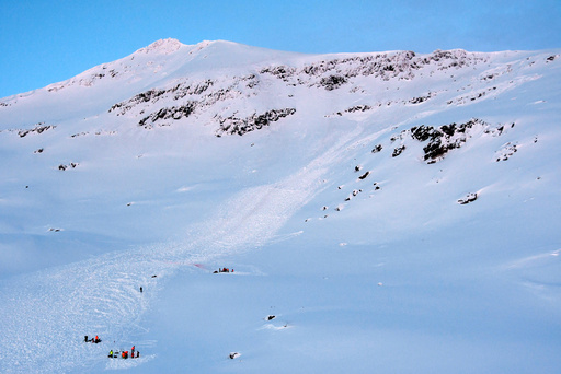 Rasulykken på Blåbærtinden i Tamokdalen.