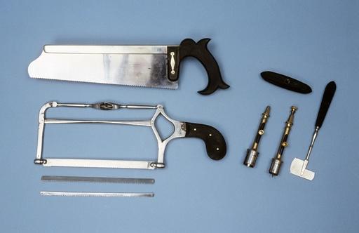 Surgical equipment, circa 1850