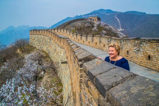 Statsminister Erna Solberg i Kina
