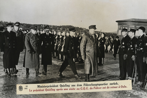 Quisling n.Besuch im Führerhauptquartier - Quisling returns from Führer HQ / Photo - Quisling ap. visite au G.Q.G. d'Hitler