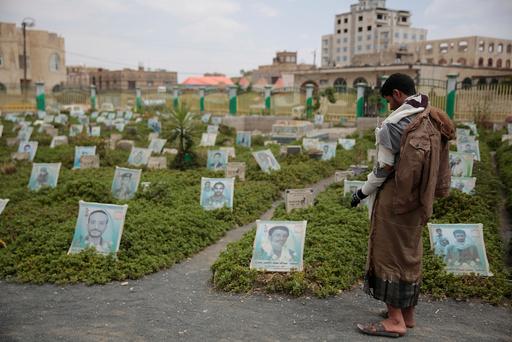 Over 100.000 mennesker er drept siden Saudi-Arabia og flere andre land gikk til krig mot Houthi-opprørerne i Jemen våren 2015, og mange av ofrene er barn. Foto: AP / NTB