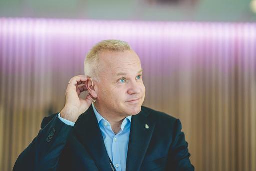 Konsernsjef i Equinor, Anders Opedal, under pressekonferanse i forbindelse med Equinors kapitalmarkedsdag. Foto: Stian Lysberg Solum / NTB