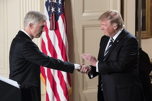 US President Donald J. Trump announces his nominee for the Supreme Court