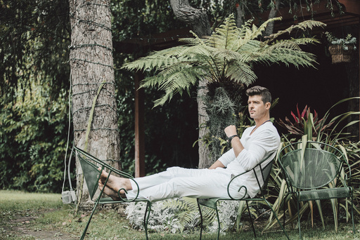 Robin Thicke at Conway Studios in Los Angeles.