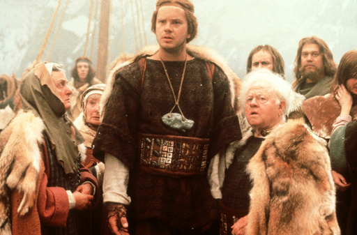 ERIK THE VIKING (UK/SW 1989)TIM ROBBINS centre, MICKEY ROONE