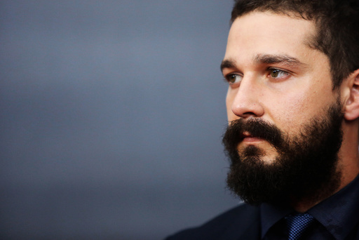 Cast member LaBeouf is pictured on the red carpet at the premier of