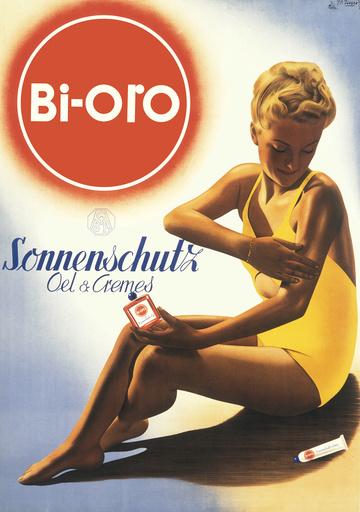 Bi oro advertising poster