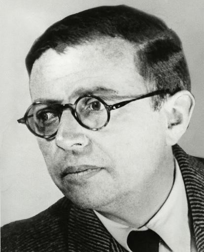Jean-Paul Sartre,Porträtaufnahme um 1950 - Jean-Paul Sartre / Portrait / c.1950 -