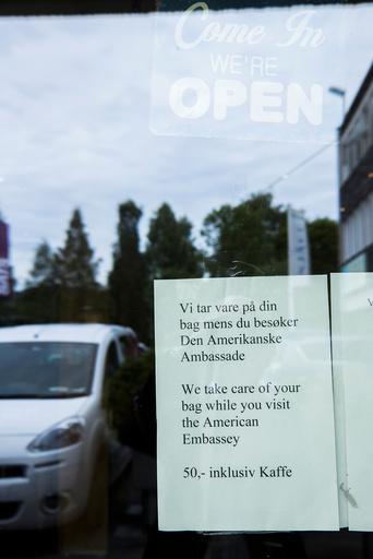 åpning av den amerikanske ambassaden